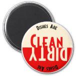 Aimant rond de lave-vaisselle vintage de conceptio