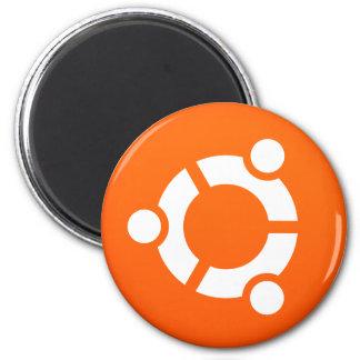 Aimant rond de Linux Ubuntu