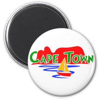 Aimant rond de montagne de Tableau de Cape Town