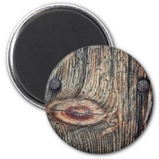 Aimant rond de planche en bois