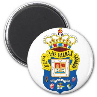 Aimant rond d'emblème de Las Palmas