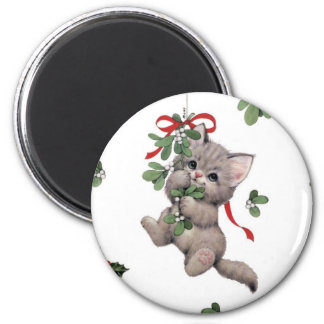 Aimant rond mignon de Kitty