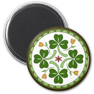 Aimant rond - sortilège irlandais de bonne chance