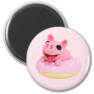 Aimant Rosa the Pig dans a Donut