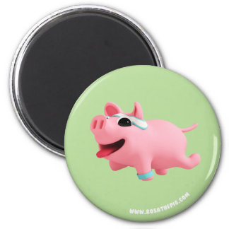 Aimant Rosa the Pig does exercise