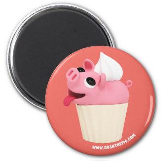 Aimant Rosa the Pig est a CupCake