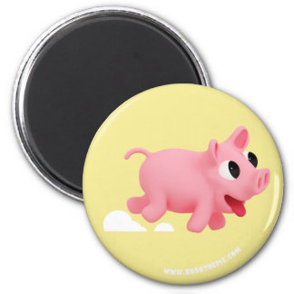 Aimant Rosa the Pig love Running