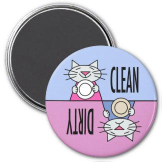 Aimant Rose bleu sale propre de lave-vaisselle de Kitty