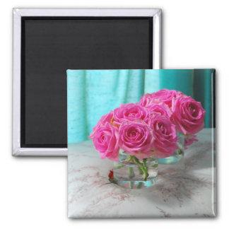 Aimant rose de réfrigérateur de roses