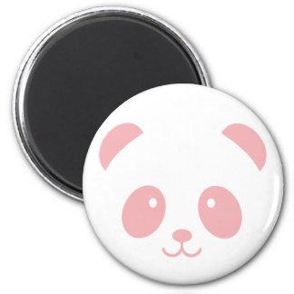 Aimant rose mignon et câlin de panda