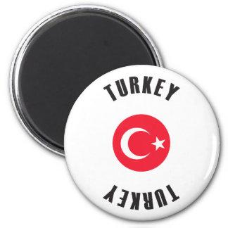 Aimant Roue de drapeau de la Turquie