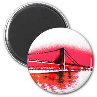 Aimant rouge de pont de rivières