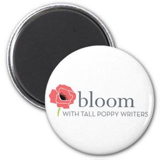 Aimant rouge-et-blanc de fleur de fleur