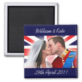 Aimant royal de baiser de mariage de William et de