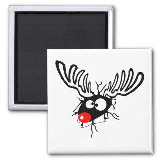 Aimant Rudolph drôle mignon la bande dessinée flairée