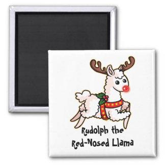 Aimant Rudolph le lama au nez rouge