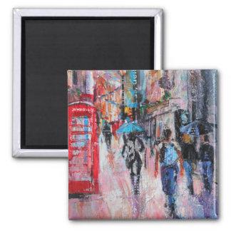 Aimant Rue de Carnaby de jour pluvieux