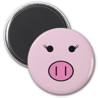 Aimant Sadie le porc rose