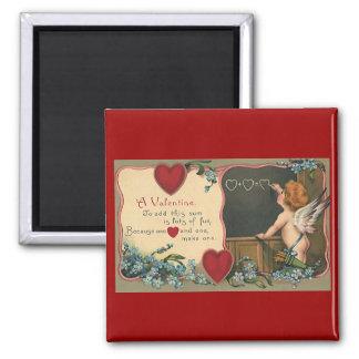 Aimant Saint-Valentin mignonne vintage, professeur d'ange