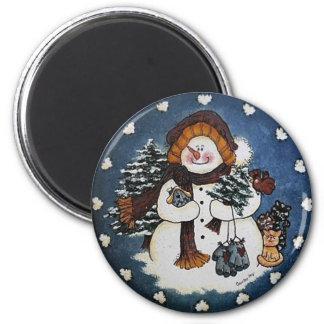 Aimant Sammy l'aimant de bonhomme de neige