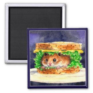 Aimant Sandwich drôle à hamster
