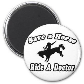 Aimant Sauvez le cheval, docteur de tour