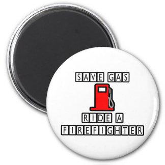 Aimant Sauvez le tour de gaz… un sapeur-pompier
