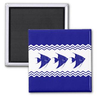 Aimant Scalaire côtier de bleu marine 3 et blanc de décor