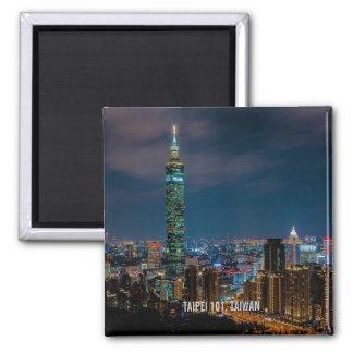 Aimant Scène de nuit de Taïpeh 101, Taïwan