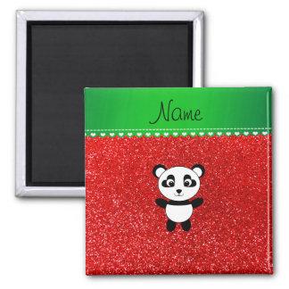 Aimant Scintillement rouge au néon personnalisé de panda