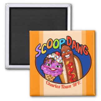 Aimant Scoop Dawg. Bouton personnalisable