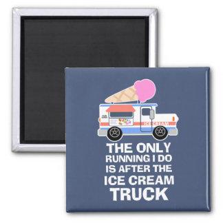 Aimant Séance d'entraînement de camion de crème glacée