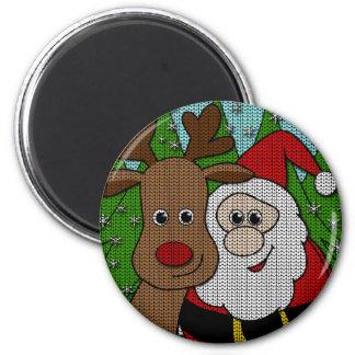 Aimant Selfie de Rudolph et de Père Noël