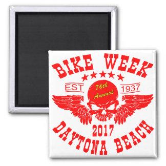 Aimant Semaine 2017r de vélo de Daytona Beach de crâne