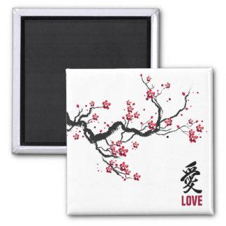Aimant simple et élégant de l'amour | de fleurs de