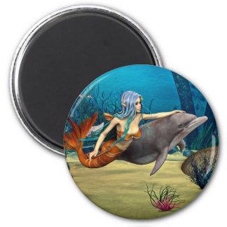 Aimant Sirène avec le dauphin