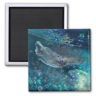 Aimant Sirène sous-marine mystique d'indigo