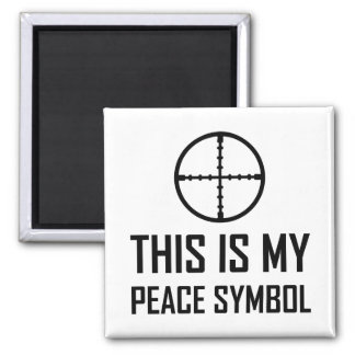 Aimant Site d'arme à feu mon symbole de paix