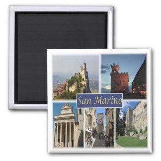 Aimant SM * Le Saint-Marin - le Monte Titano - panorama