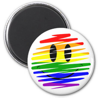 Aimant Smiley de gay pride