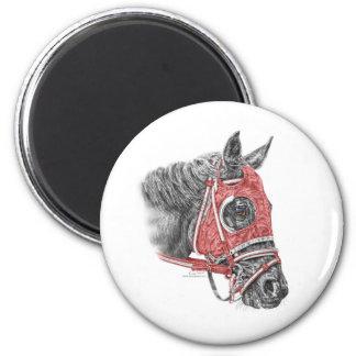 Aimant Soies de portrait de cheval de course