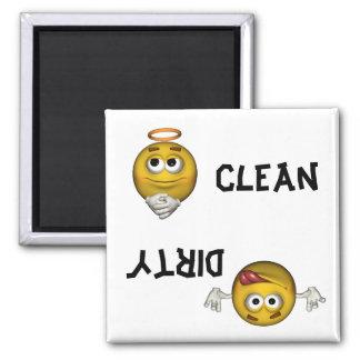 Aimant souriant de lave-vaisselle de visage