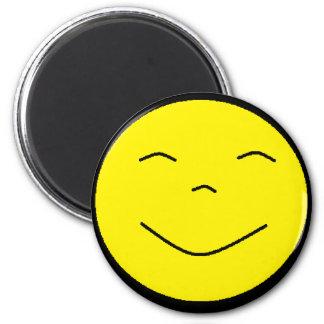 Aimant souriant jaune de visage
