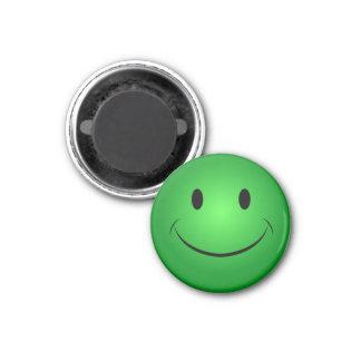 Aimant souriant vert de visage