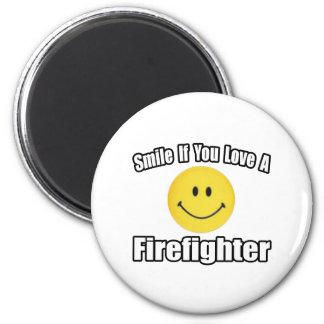 Aimant Sourire si vous aimez un sapeur-pompier