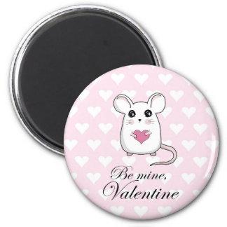 Aimant Souris mignonne - jour de Valentines