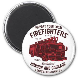 Aimant Soutenez vos pompiers locaux