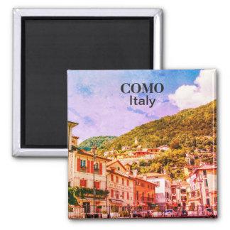 Aimant Souvenir vintage de ville de l'Italie Como