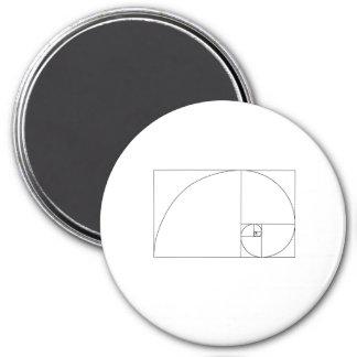 Aimant Spirale de Fibonacci