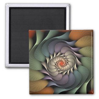 Aimant Spirale florale colorée de Jardinere
